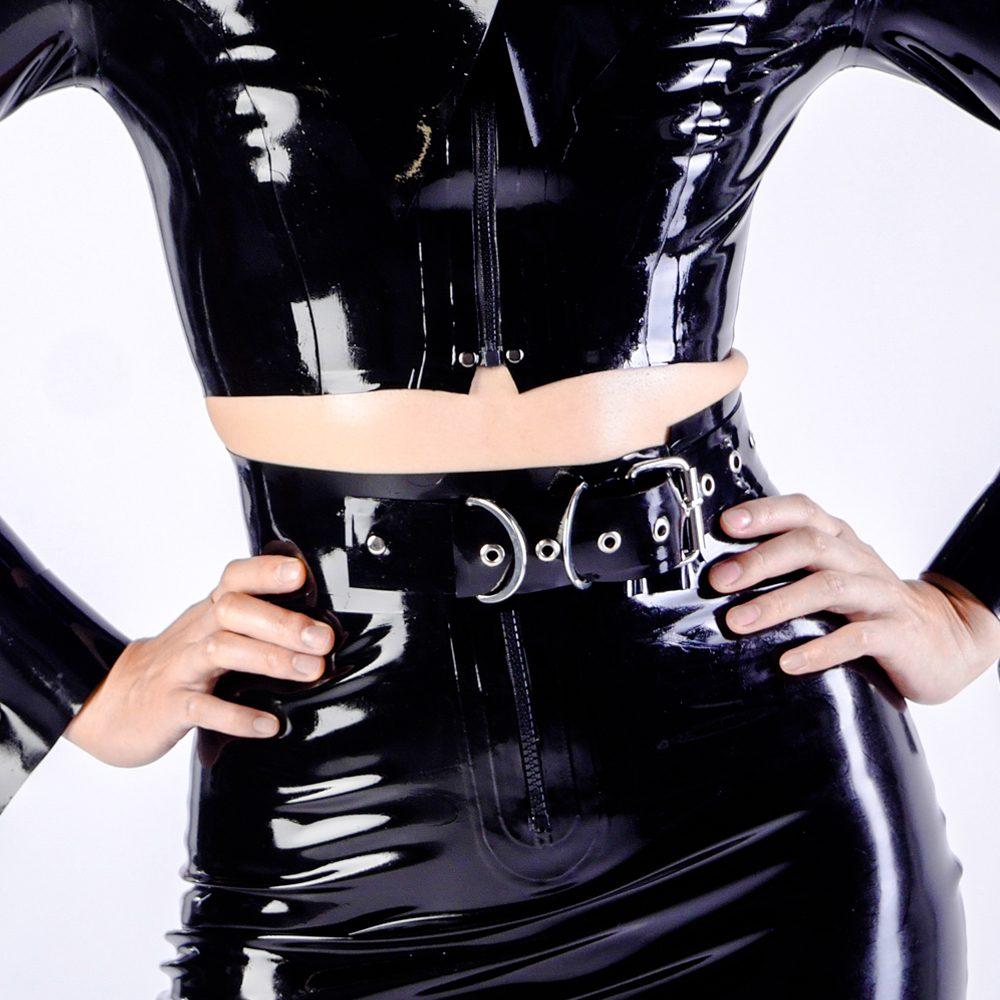 Exo Latex handmade latex rubber fashion clothing belts corsets