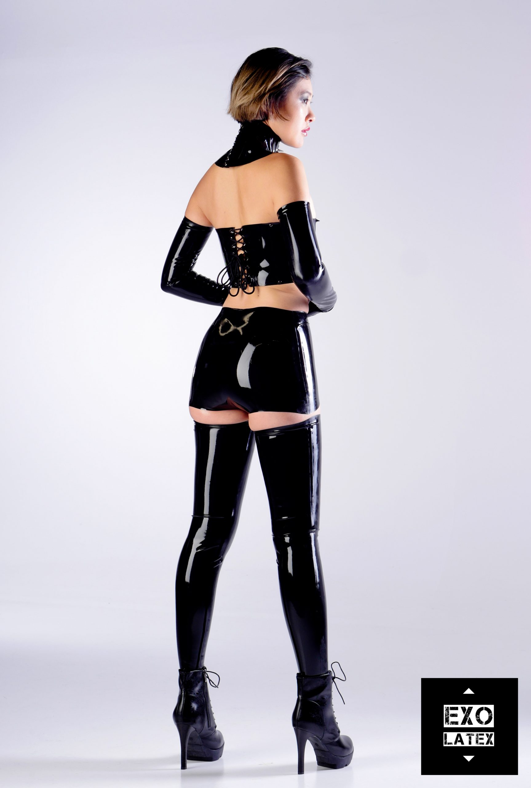 Long Latex Stockings